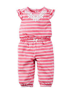 Carter's Pink Striped Jumpsuit - Baby 3-18 Mos.