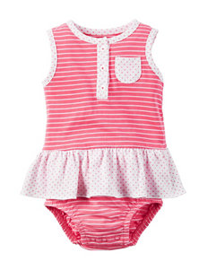 Carter's Striped Print Sunsuit - Baby 3-18 Mos.