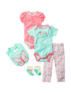 Baby Gear 5-pc. Butterfly Print Bodysuit & Leggings Set - Baby 0-9 Mos.
