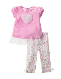 Baby Gear 2-pc. Heart & Floral Printed Leggings Set - Baby 12-24 Mos.