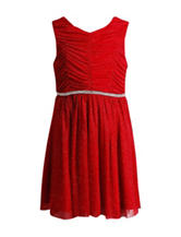 Emily West Red Ruched Dress - Girls 7-16