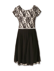 Speechless Floral Lace Chiffon Dress - Girls 7-16