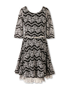 Speechless Chevron & Floral Print Dress - Girls 7-16