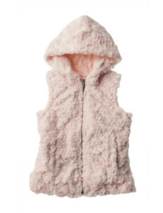 Speechless Blush Faux Fur Vest Top - Girls 7-16