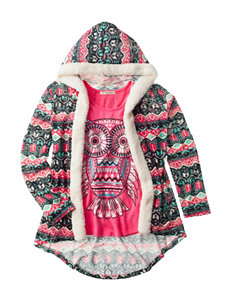 Self Esteem 2-pc. Aztec Print Cardigan & Owl Top Set - Girls 7-16