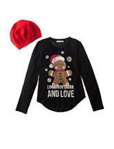 Self Esteem 2-pc. Gingerbread Man Top & Hat Set - Girls 7-16
