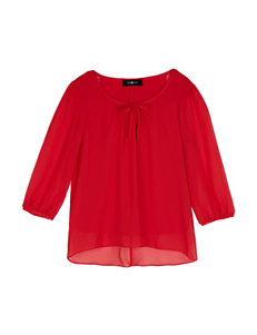 Amy Byer Red Bow Top - Girls 7-16