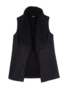 Amy Byer Long Shearling Vest - Girls 7-16