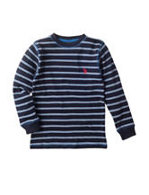 U.S. Polo Assn. Thermal Striped Shirt - Boys 8-20
