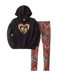 1st Kiss 2-pc. Foil Heart Print Fleece Top & Leggings Set - Girls 7-16