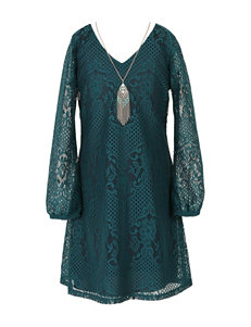 Speechless 2-pc. Teal Lace Dress Set - Girls 7-16