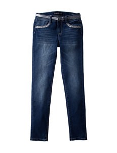 Vanilla Star Belted Back Bling Jeans - Girls 7-16
