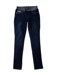Vanilla Star Grey Knit Waist Jeans - Girls 7-16