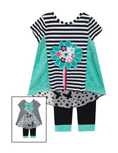 Rare Editions 2-pc. Flower Top & Leggings Set - Girls 4-6x