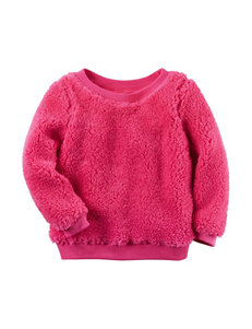Carter's® Hot Pink Sherpa Tunic - Toddler Girls