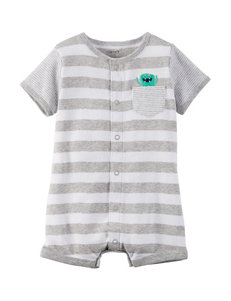 Carter's Monster Striped Print Creeper - Baby 3-18 Mos.