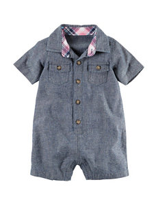 Carter's Chambrey Woven Romper - Baby 3-12 Mos.