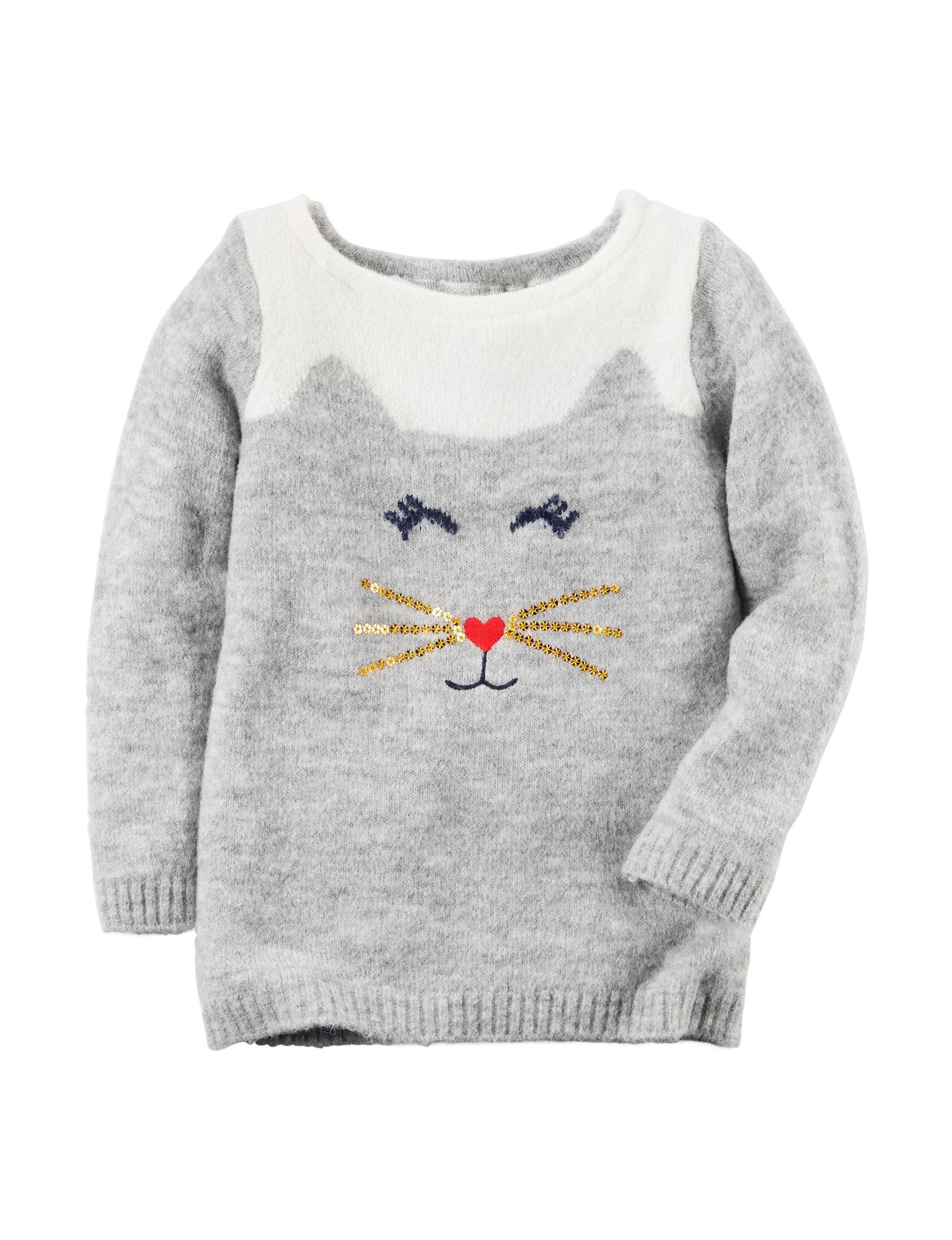 Carter's Heather Grey Sweaters