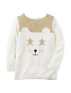 Carter's Bear Face Sweater - Toddler Girls