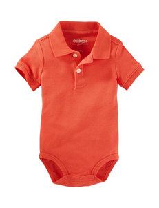OshKosh B'gosh Orange Polo Bodysuit - Baby 9-24 Mos.