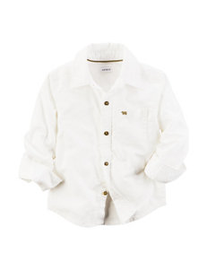 Carter's White Oxford Woven Shirt - Boys 4-8