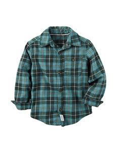 Carter's® Teal Tartan Plaid Flannel Shirt - Boys 4-8