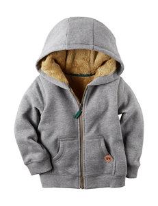 Carter's® Heather Grey Sherpa Fleece Jacket - Boys 4-8