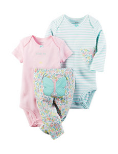Carter's 3-pc. Butterfly Bodysuit & Leggings Set - Baby 0-12 Mos.