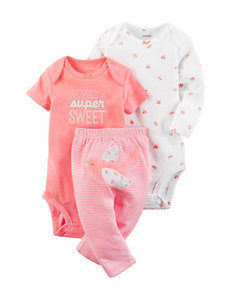 Carter's 3-pc. Always Super Sweet Bodysuit & Pants Set - Baby 0-12 Mos.