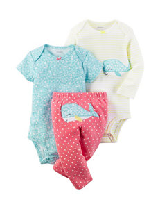 Carters 3-pc. Whale Bodysuit & Pants Set - Baby 0-12 Mos.