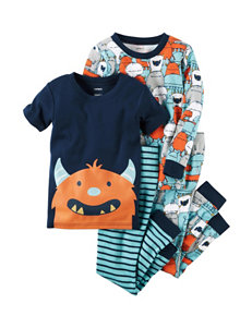 Carter's 4-pc. Monster Shirt & Pants Pajama Set - Boys 12-24 Mos.