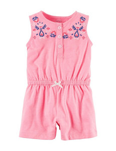 Carter's Pink Paisley Detail Bodysuit - Baby 3-18 Mos.