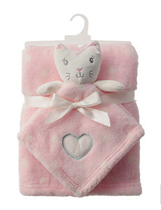 Baby Gear 2-pc. Cat Buddy & Pink Blanket Set