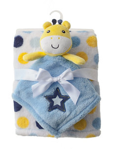 Baby Gear 2-pc. Giraffe Buddy & Dot Print Blanket Set