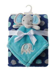Baby Gear 2-pc. Elephant Buddy & Dot Print Blanket Set