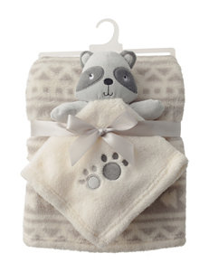 Baby Gear 2-pc. Raccoon Buddy & Aztec Print Blanket Set
