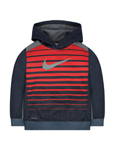 Nike® Heather-Striped Print Hoodie - Toddler Boys