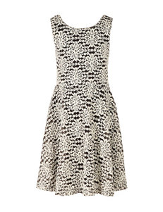 Speechless Floral Crochet Skater Dress - Girls 7-16