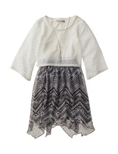 Speechless Crochet Popover Dress with Necklace - Girls 7-16