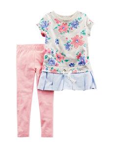 Carter's 2-pc. Floral Top & Leggings Set - Toddler Girls