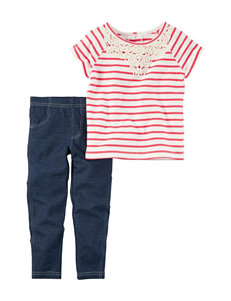 Carter's 2-pc. Striped Print Top & Leggings Set - Toddler Girls