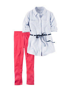 Carter's 2-pc. Stripe Print Top & Leggings Set - Girls 4-8