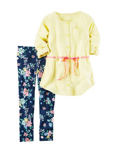 Carter's 2-pc. Top & Floral Print Leggings Set - Girls 4-8