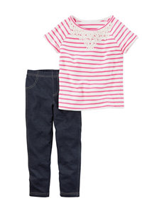 Carter's 2-pc. Striped Top & Jeggings Set - Girls 4-8