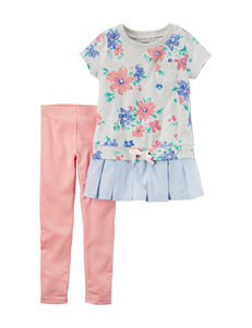 Carter's 2-pc. Floral Top & Leggings Set - Girls 4-8