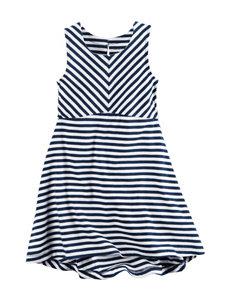 Carter's Striped Print Dress - Toddler Girls