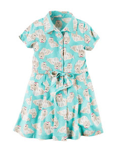 Carter's Dog Print Dress - Girls 4-8