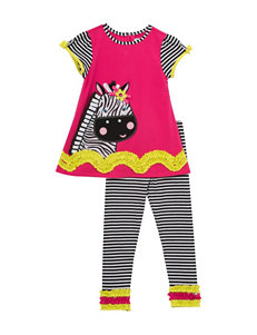 Rare Editions 2-pc. Zebra Appliqué Top & Leggings Set - Baby 12-24 Mos.