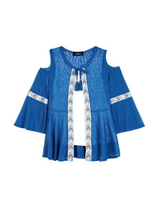 Amy Byer Blue Knit Top - Girls 7-16