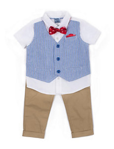 Boys Rock 3-pc. Stripe Vest & Bowtie Set - Baby 12-24 Mos.